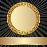 guld- ram Arkivfoto
