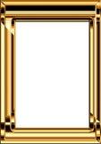 guld- ram royaltyfri foto