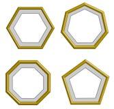 Guld- ram för kant vektor illustrationer