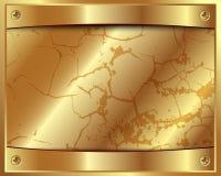 Guld- ram för metall med skruvar Royaltyfri Fotografi