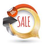 Guld- ram för modern försäljningsetikett Arkivfoton