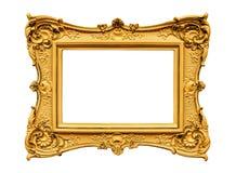 Guld- ram för murbruk Fotografering för Bildbyråer