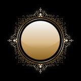 Guld- ram för tappning royaltyfri illustrationer