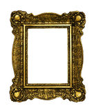 Guld- ram för tappning Arkivfoto