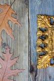 Guld- ram för tappning, del av Royaltyfria Foton