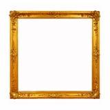 Guld- ram för tappning med tomt utrymme Royaltyfri Fotografi