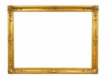 Guld- ram för tappning med tomt utrymme Royaltyfria Foton