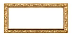 Guld- ram för tappning som isoleras på vit bakgrund, med den snabba banan Royaltyfri Foto
