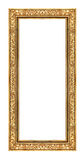 Guld- ram för tappning som isoleras på vit bakgrund, med den snabba banan Royaltyfria Bilder