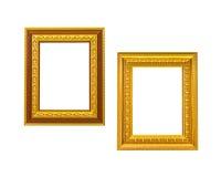 Guld- ram för tappning två Royaltyfri Fotografi