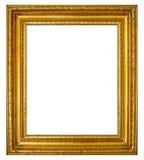 Guld- ram med den antika stöpningen Royaltyfri Fotografi