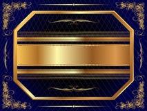 Guld- ram med modell 7 Royaltyfri Bild