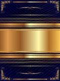 Guld- ram med modell 14 Fotografering för Bildbyråer