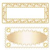 Guld- ram och guld- mattdesign Royaltyfri Bild