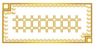 Guld- ram och guld- mattdesign Arkivfoto