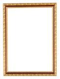 Guld- ram på isolerad vit Arkivfoton