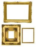 Guld- ramar Fotografering för Bildbyråer
