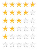 Guld- rating för stjärnor stock illustrationer