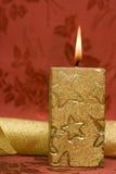 guld- red för stearinljus Royaltyfria Bilder