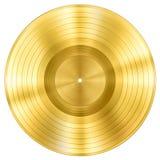 Guld- rekord- musikdiskettutmärkelse som isoleras på vit arkivbilder