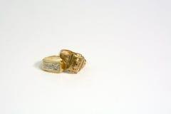 Guld- ringer arkivbild