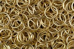 Guld- ringer Arkivfoton