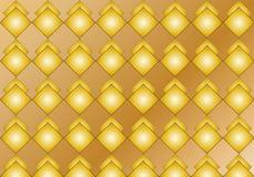 Guld- rombmodell vektor illustrationer