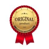 Guld- rosett för vektor med ` för produkt för titel` original- och högvärdig kvalitets- ` för `, Royaltyfri Foto