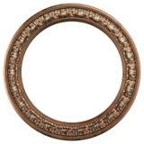 guld- round för klassisk ram Arkivfoto