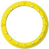 guld- round för ram Arkivfoto