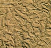 guld- rumpled textur Royaltyfri Bild