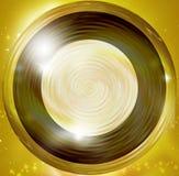 Guld- runda designbeståndsdelar Arkivbilder