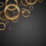 guld- rundor för abstrakt bakgrund Royaltyfri Bild