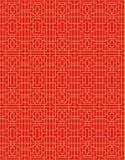 Guld- sömlös kinesisk linje modellbakgrund för geometri för fönstertraceryfyrkant Royaltyfri Bild
