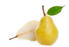 guld- saftig pear Arkivfoton