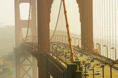 guld- san för brofrancisco port trafik Arkivbild