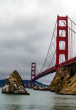 Guld- San Francisco utfärda utegångsförbud för överbryggar Fotografering för Bildbyråer