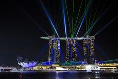 Guld- sandkasino, Singapore Arkivbild
