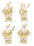 Guld- Santa Claus Arkivbild