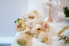 Guld- Santa New Year Royaltyfri Fotografi