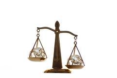 guld- scales Arkivbilder