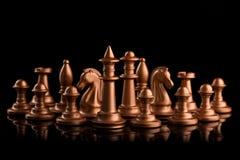 guld- schackdiagram Royaltyfri Bild