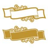 guld- scroll vektor illustrationer
