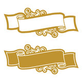 guld- scroll Arkivfoton