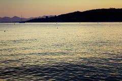 Guld- Seascape Arkivbilder