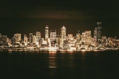 Guld- Seattle horisont Arkivbilder