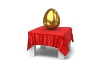 guld- set för ägg Arkivfoto