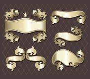 guld- set för baner Royaltyfri Illustrationer