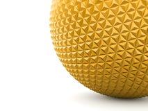 Guld- sfär med skuggor Arkivbilder