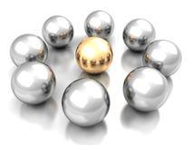 Guld- sfärbegrepp för ledarskap Framgångföretagsledare Royaltyfri Bild
